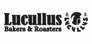 Black Lucullus baker and roaster logo.