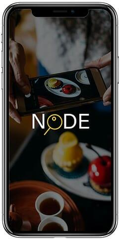 iPhone X mobile layout of Node loading screen.