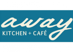 A large Away Kitchen and Cafe Logo.