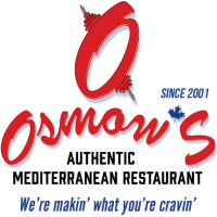 A large Osmow's logo and black font of