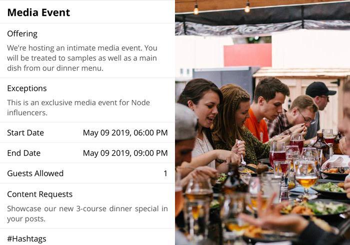 Influencer Media Event