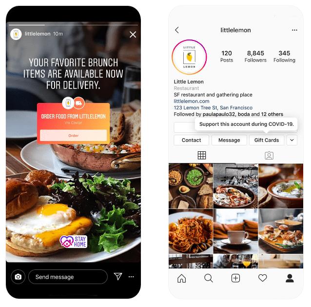 Instagram Restaurant Sticker