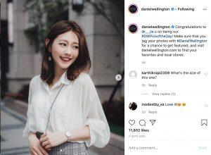 Daniel Wellington Luxury Watch Company pic of the Day Campaign on Instagram social media