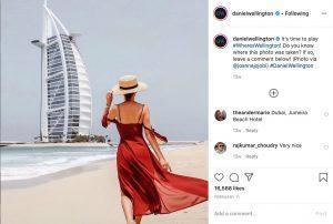 Daniel Wellington Luxury Watch Company Beach Club Style Instagram social media Dubai influencer