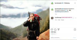 Healthy Active Girl Drinking La Croix Sparkling Water Health Beverage Instagram Post